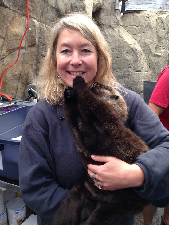 Sea Otter Pup Rialto Likes This Human 2