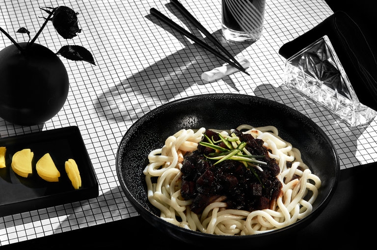 """A Korean Noodle Dish for Lonely Hearts"" by Sam Sifton.  https://www.nytimes.com/2016/04/03/magazine/a-korean-noodle-dish-for-lonely-hearts.html?_r=0"