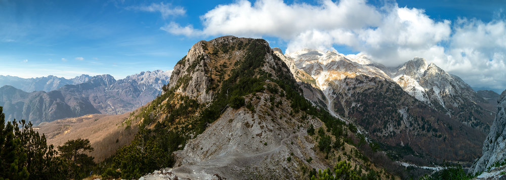 Valbone to Theth ridge crossing Panorama.