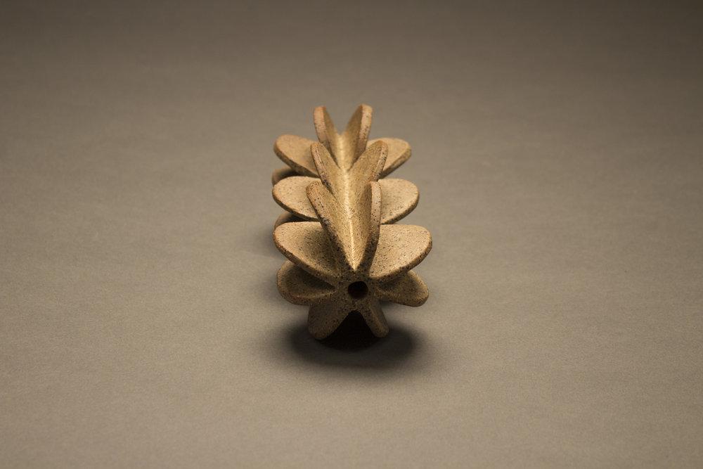 "Linear Sphere, stoneware,  3.125"" x 7.5"" x 3.125"""