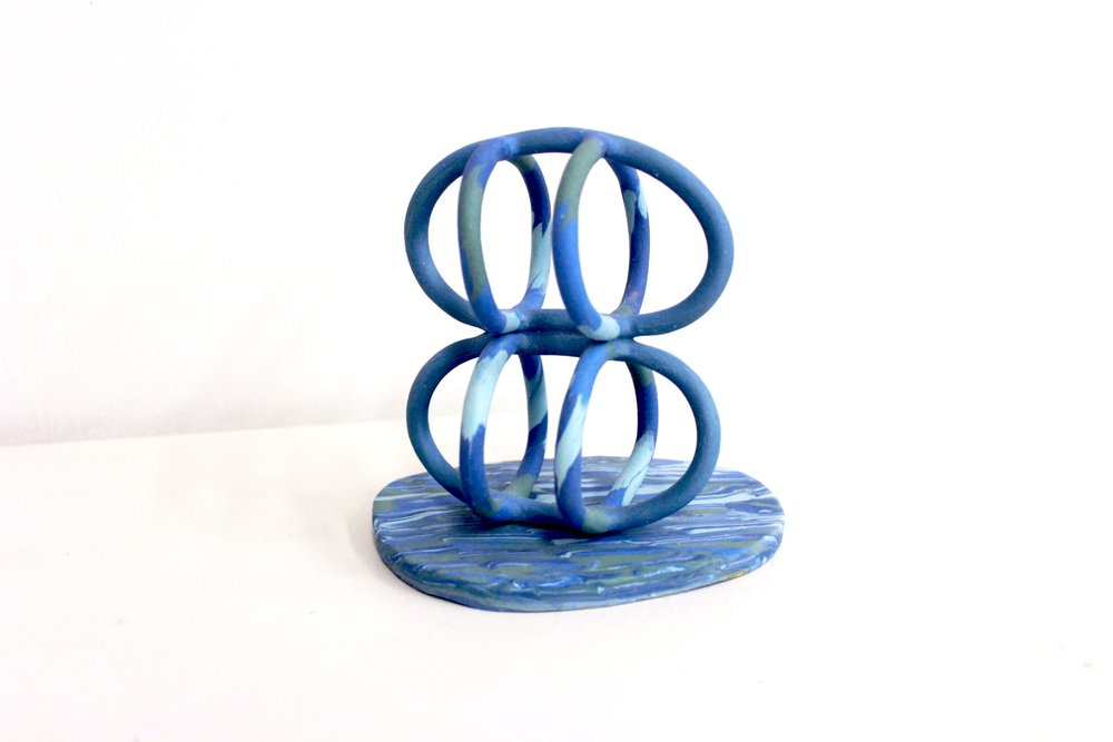 """Transparency   Colored Porcelain, mid range fired   6.5"""" x 5.5"""" x 4.5""""   2018"""