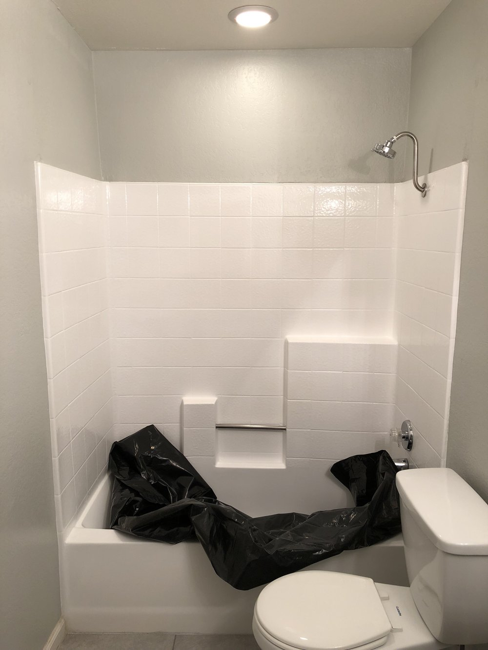 BEFORE - Our Shower Insert.