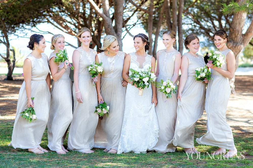 Bridal Party Candid Wedding Photos with bouquets