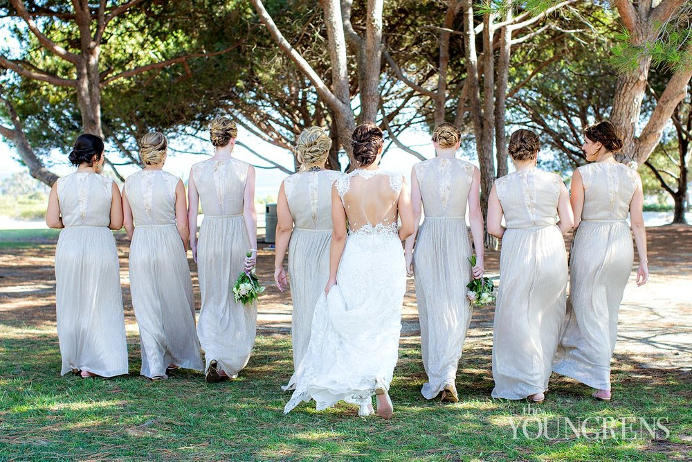 Wedding Photos with Bridesmaids Hair and Makeup