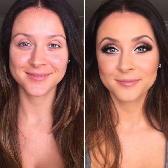 Smoky eye, highlights, brow arches, lash extensions and contouring for a glammed out look perfect for any special occasion. Hair & makeup by Vanity Belle in Orange County & San Diego!