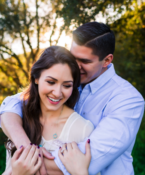 Simple Engagement Photos with Ring + Hair and Makeup. Hair and Makeup done by Vanity Belle in Orange County (Costa Mesa) and San Diego (La Jolla).