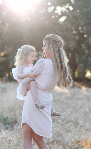 Mother Daughter Photo Shoot Outside in Nature. Hair and Makeup by Vanity Belle in Orange County (Costa Mesa) and San Diego (La Jolla)