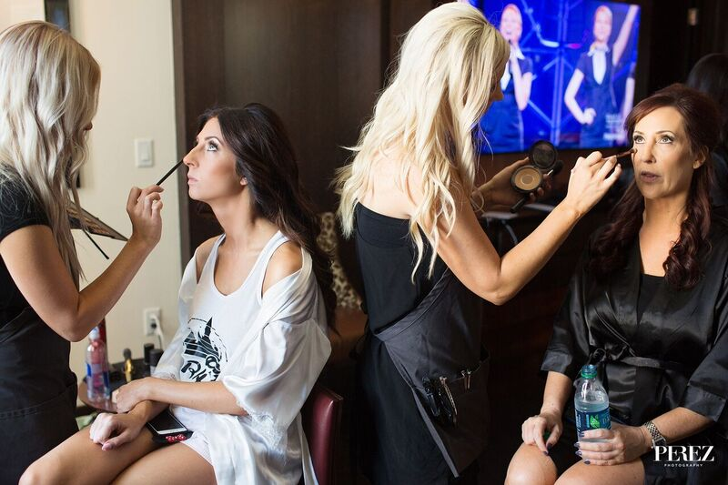 Vanity Belle Orange County freelance makeup artists at work