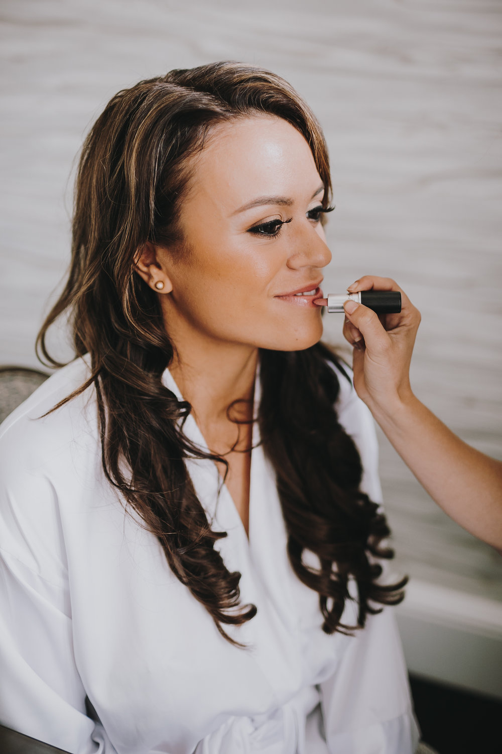 "Nude lip makeup is the minimalist style trend that you'll love to try! Finding just the right lip shade for your special day can be overwhelming, so here's some help from Brides magazine where they feature ""20 Flattering Lipstick Colors for Every Kind of Bride."""