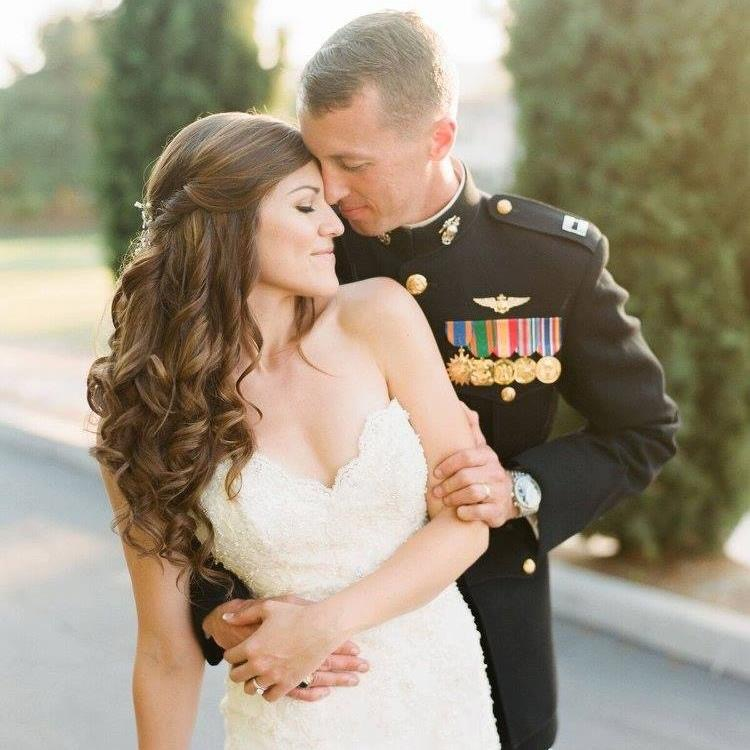 bridal-half-up-hairstyle-san-diego-millitary-wedding-makeup-thevanitybelle.com
