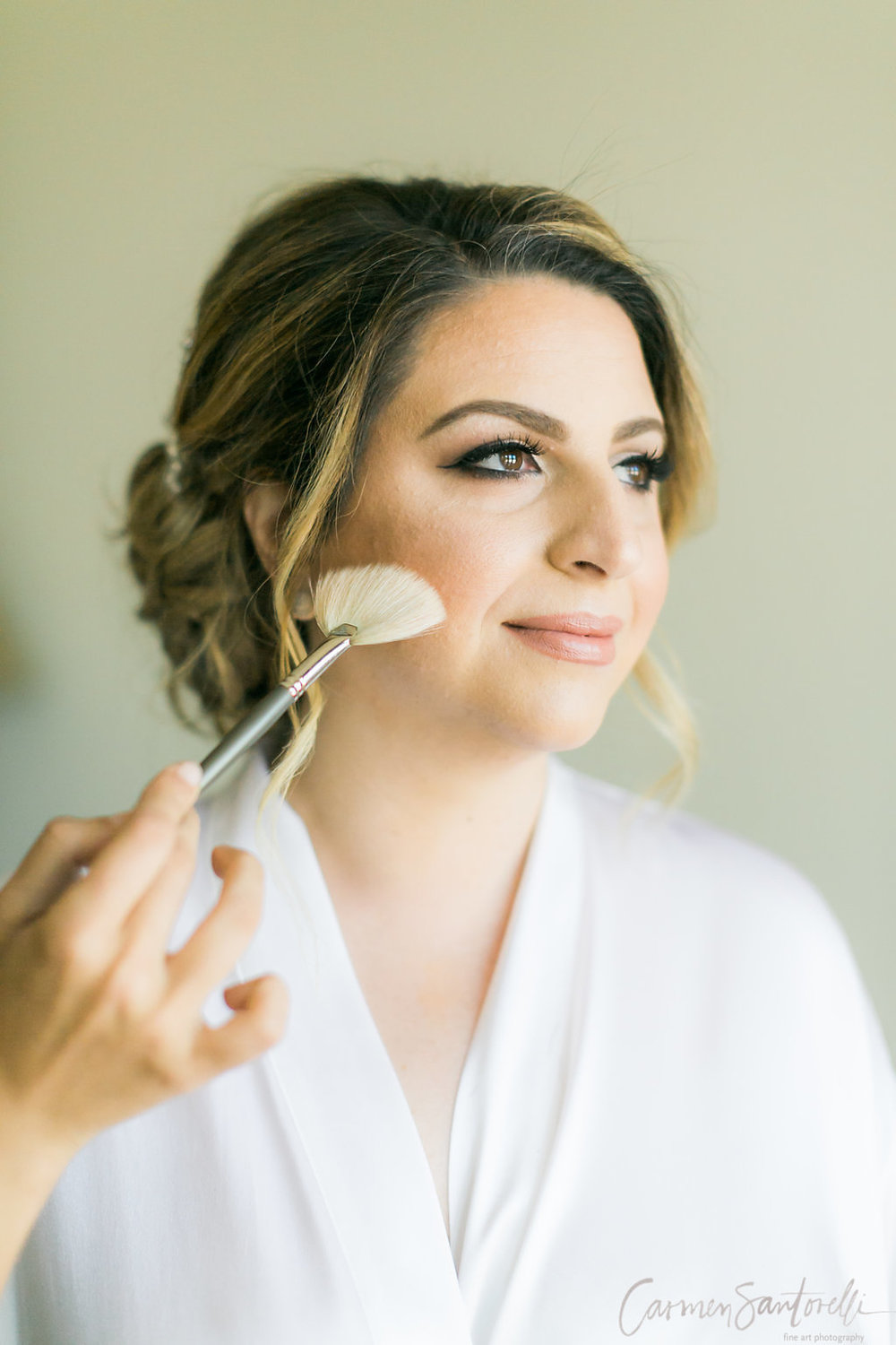 """The Bride chose a beautiful smokey-eye & lilac look, which according to Woman Getting Married Media, is one of """"8 Ways to Rock Dramatic Eye Makeup at Your Wedding."""""""