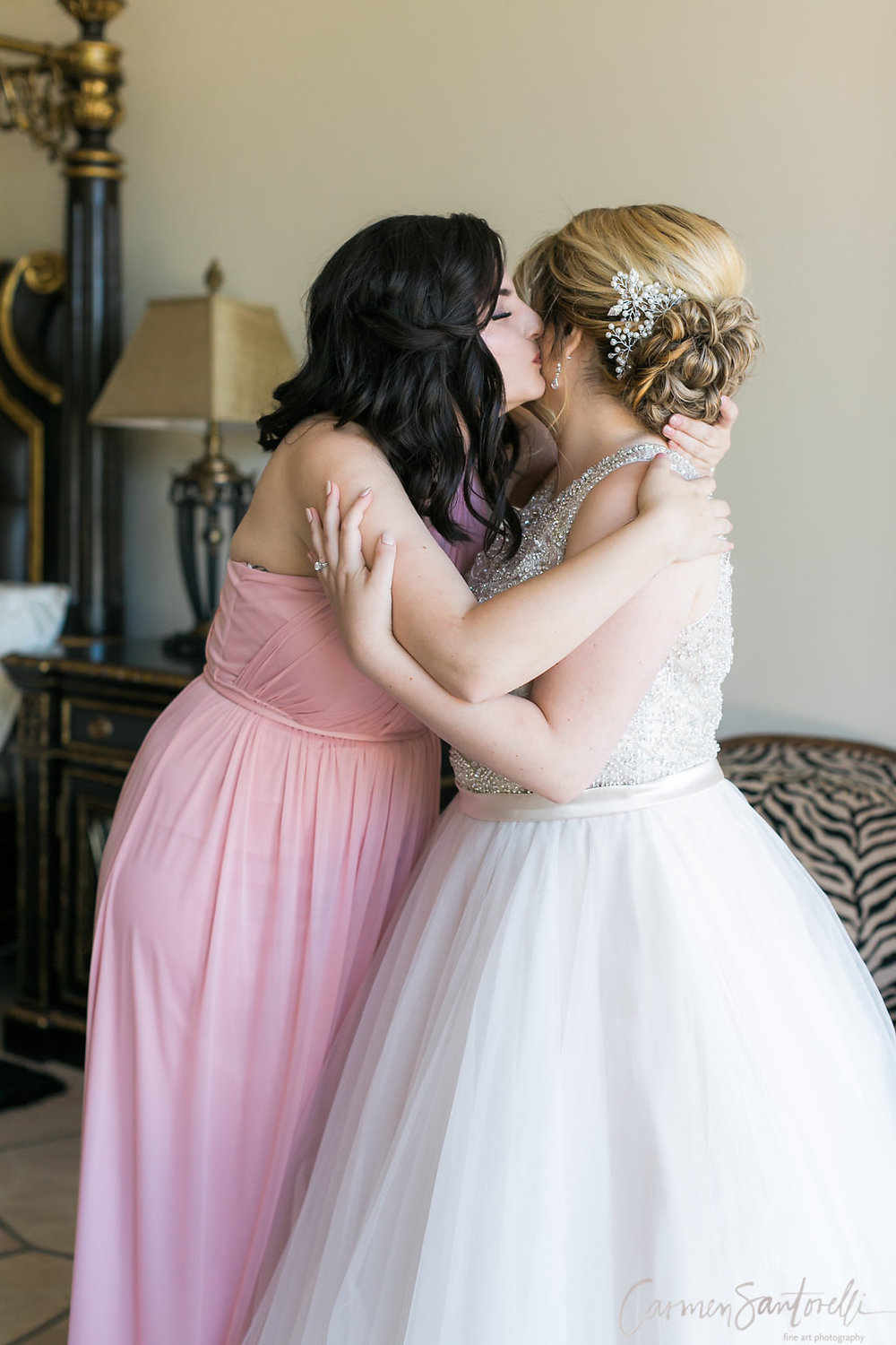 What a beautifully captured tender moment with the Bride.