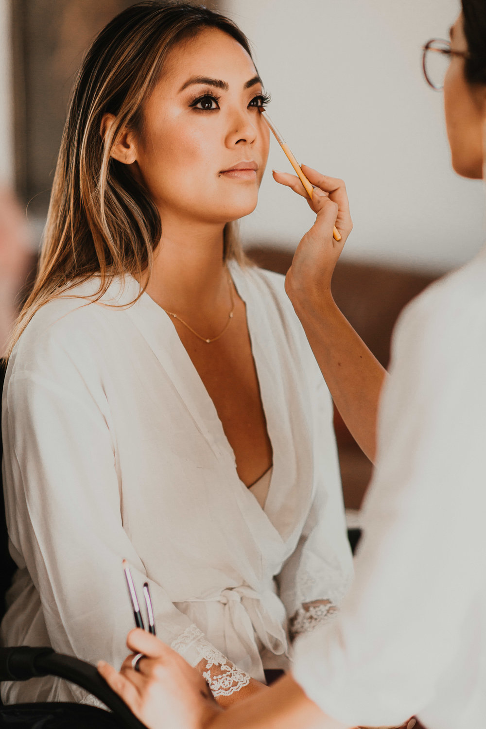 Asian bridal look, smokey eye makeup, neutral eye makeup, wedding day makeup inspiration. Wedding Hair and makeup by Vanity Belle in Orange County (Costa Mesa) and San Diego (La Jolla)