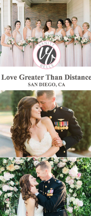 san-diego-millitary-wedding-half-up-hairstyle-thevanitybelle.com