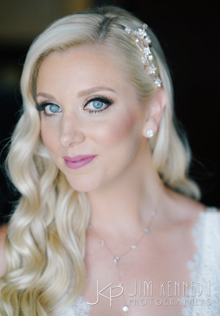 Wedding/ bridal hair and makeup by Vanity Belle Orange County (Costa Mesa) in Los Cabo Mexico