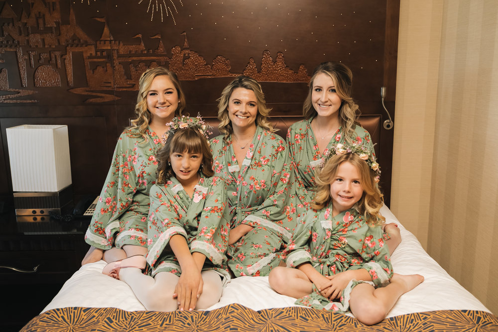 Bride, bridal party and flower girl hair & makeup by Vanity Belle in Orange County (Costa Mesa) and San Diego (La Jolla). www.thevanitybelle.com