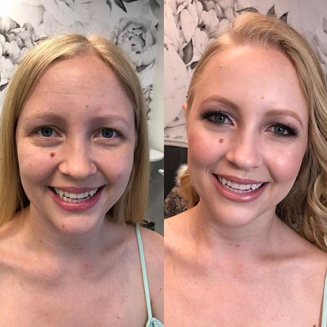 H A P P Y clients are the prettiest 😍! . . . Hair & Makeup | #vanitybellemichelle Beauty Boutique | #vanitybelle