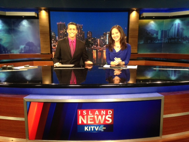 Our first official KITV weekend show together with me as the anchor, not the fill in.
