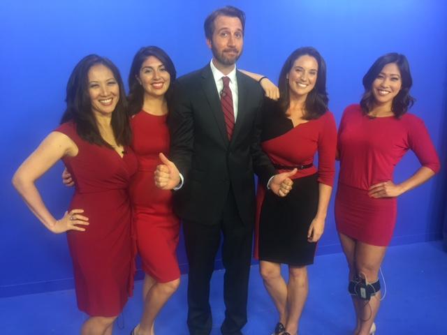 We have fun. Red day: me, Melody Gonzales, Pete Caggiano, Eliza Larson, Brandi Higa