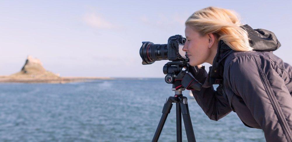 Landscape, Nature & Travel Photographer / Writer / Tutor Emma Rothera at work.