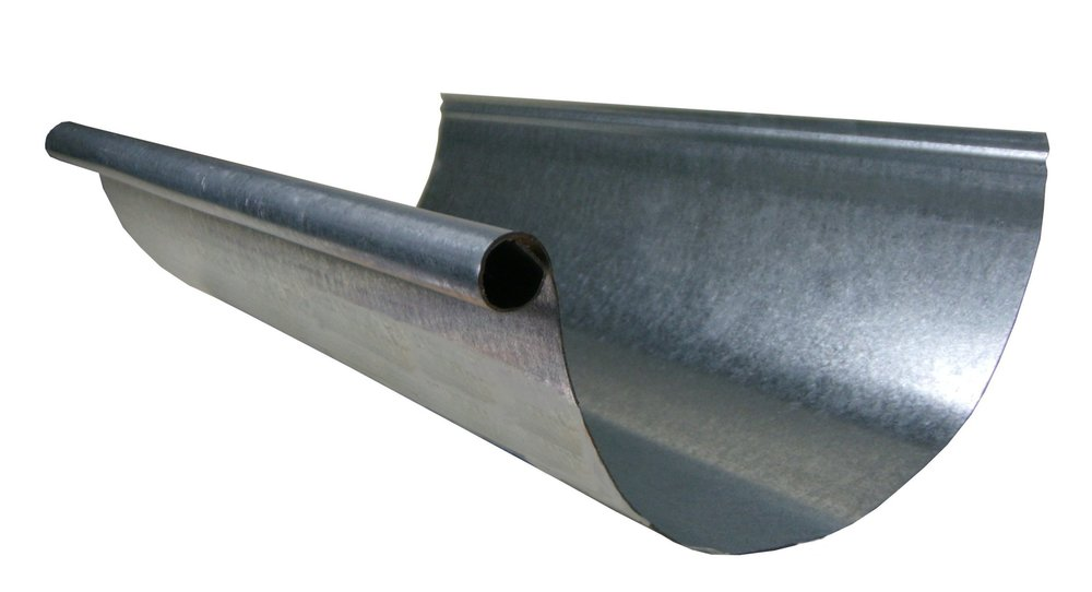 GALVANIZED GUTTERS - Galvanized gutters are available in K-style, half round and box. We do not paint galvanized steel. So when choosing a galvanized system make sure that you are wanting that raw metal look. Down spouts are available in round, corrugated, and box designs.