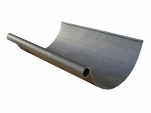 Paint grip steel half round gutter.