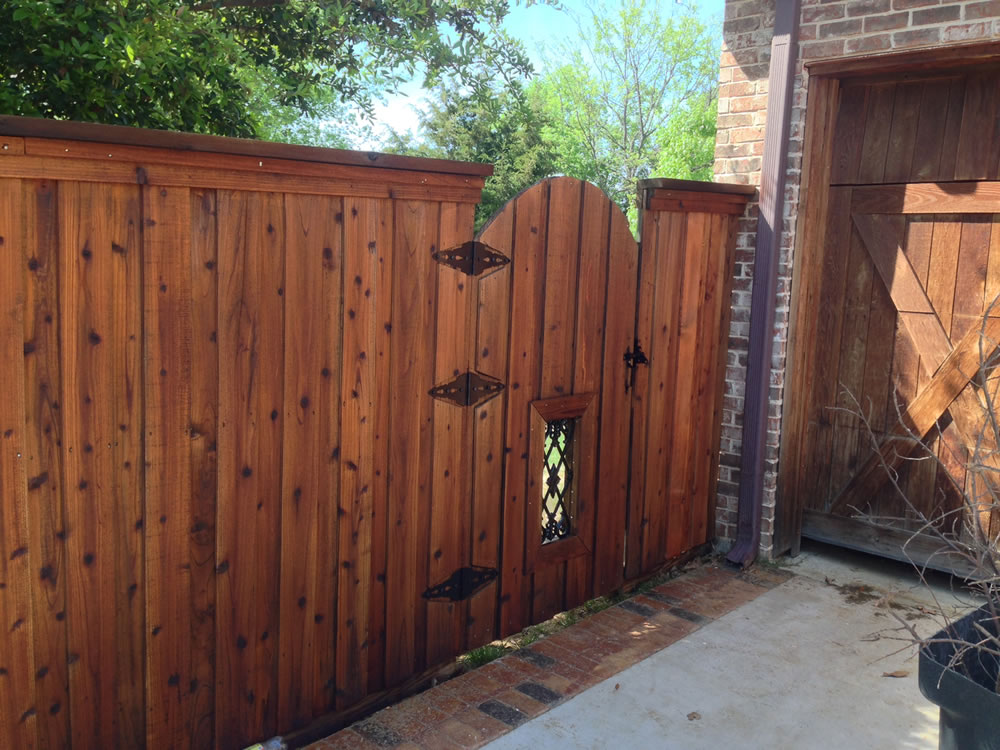 fence staining - We use a high grade, deep penetrating stain called. There are multiple colors to choose from and the darker the color, the more it protects.We recommend staying away from light, natural colors. It is best to use a shade of brown for better protection.Fence Staining/Sealing Process:(Day 1) Apply Cleaner, Power Wash, Apply Brightener, Rinse(Day 2) Apply Stain – We spray, roll and brush the product thoroughly