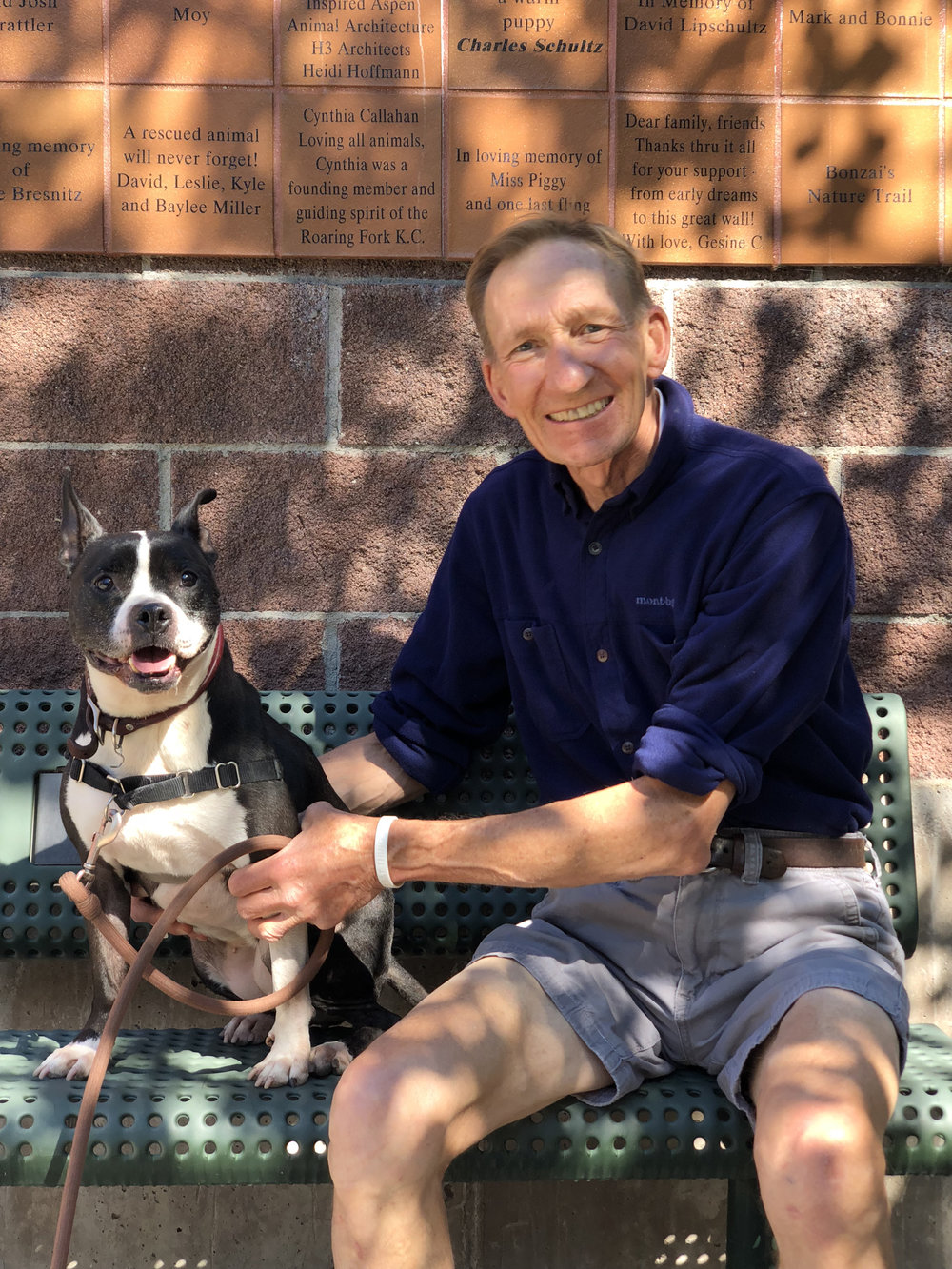 Jim Miller & shelter dog Sam