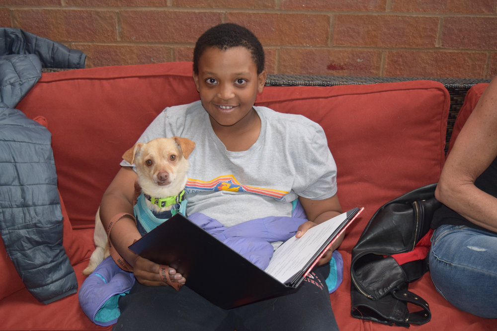 Caleb Seward & former shelter dog Chance