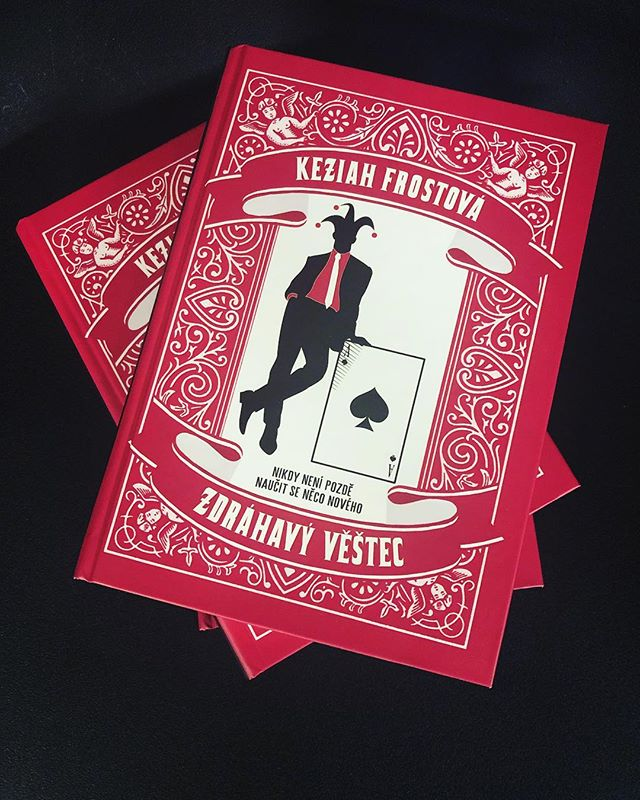 Happy #ForeignEditionFriday! One is never too old to learn new tricks in @keziahfrost's THE RELUCTANT FORTUNE-TELLER. And this week it gets a Czech makeover! • • • #bookstagrammer #bookstagram #bookshelf #books #foreign #czech #translated #red #fortune #keziahfrost #cards #cardreader #witty #charming