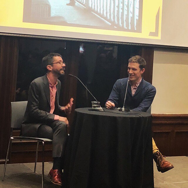 WHEN BROOKLYN WAS QUEER had an incredible launch party at the @brooklynhistory Tuesday night with 300+ attendees! Pictured here are SLL clients @hughoryan and @slate editor @jblowder discussing the lost histories of Brooklyn's LGBTQ+ community.  We love it when two SLL clients support one another! • • • #hughryan #bryanlowder #slate #whenbrooklynwasqueer #lgbtq🌈 #lgbt #brooklyn #history #nonfiction #books #bookstagram #march #pubday #party #launch