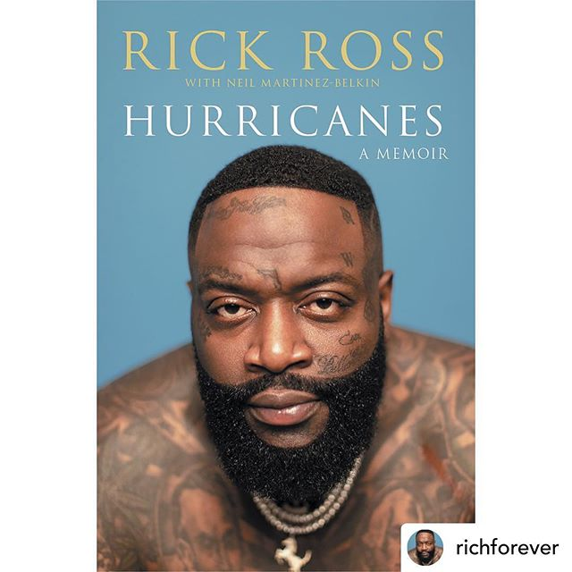 👀SLL has a new client 👀  @richforever A storm is coming... #HURRICANES THE STORY OF MY LIFE!  Pre-order Now. On shelves Sept. 3 2019!!! • • •  #rickross #hurricanes #memoir #celebrity #client #coverreveal #septemeber #pubday #author #grammy #recordingartist #raplegend #musicmogul #books #bookstagram #bookshelf #bookstagrammer