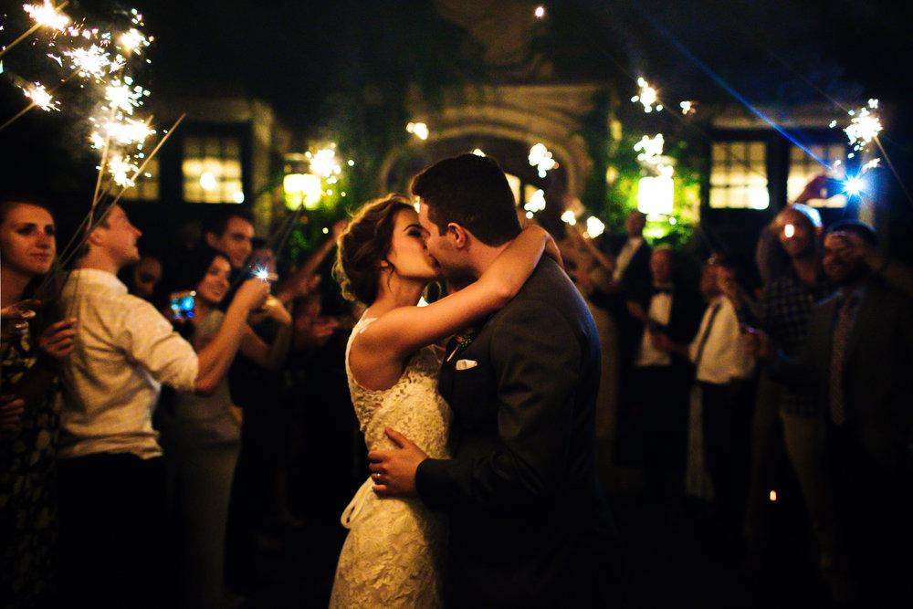 St. Paul University Club Wedding Sparkler Exit