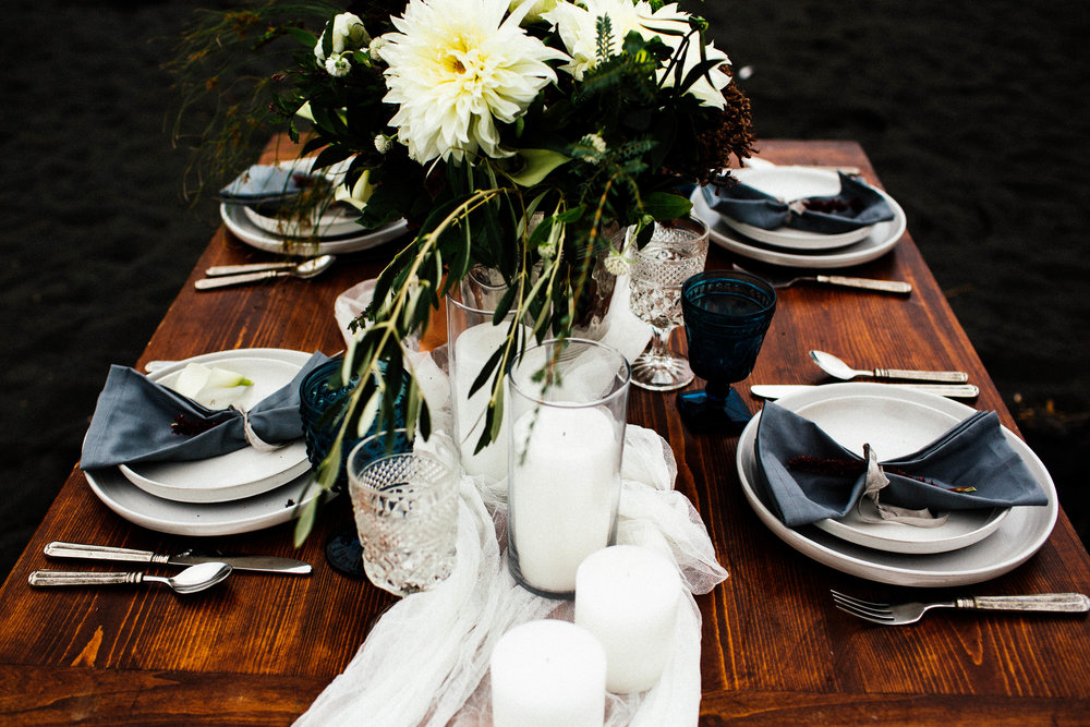 Duluth Minnesota elopement table setting