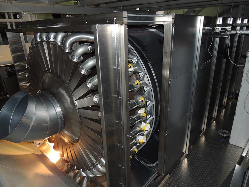 Strömungsverteiler zur Außenklimasimulation bis -65°C