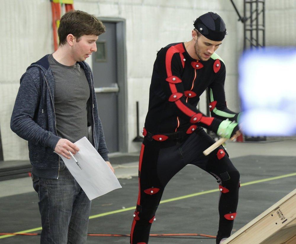 Danny directing Hillary mocap actor