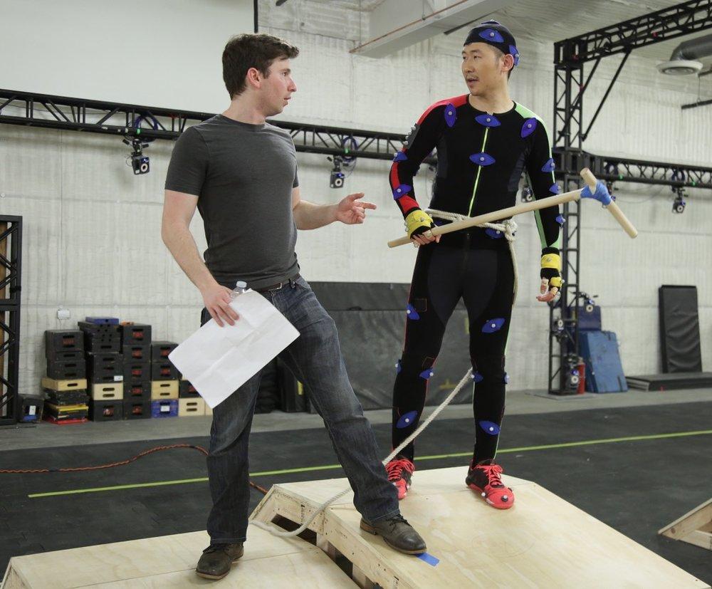 Danny directing Norgay mocap actor