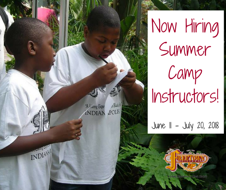 2018 Summer Camp Now Hiring
