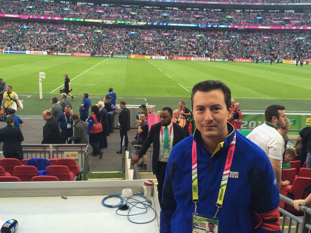 RFU pitchside surgeon, The Rugby World Cup 2015