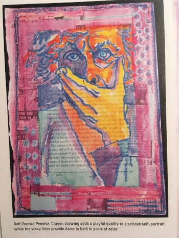 Shirley Ende-Saxe, artist, as seen in The Art of Crayon.
