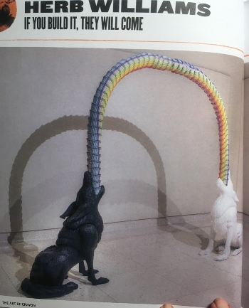 Um...those are all crayons. By sculptor Herb Williams, photo by Ashton Thornhill in The Art of Crayon.