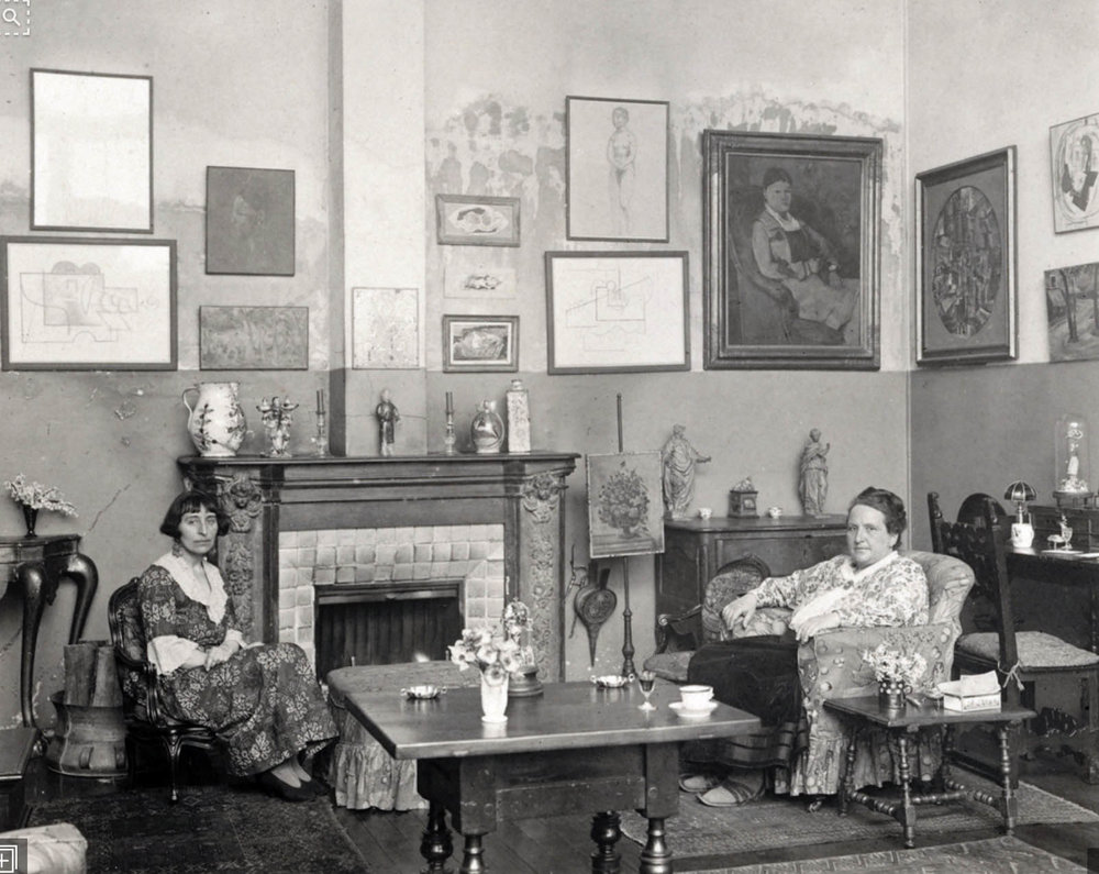 Alice B. Toklas and Gertrude Stein in their Paris apartment.       Getty Images.
