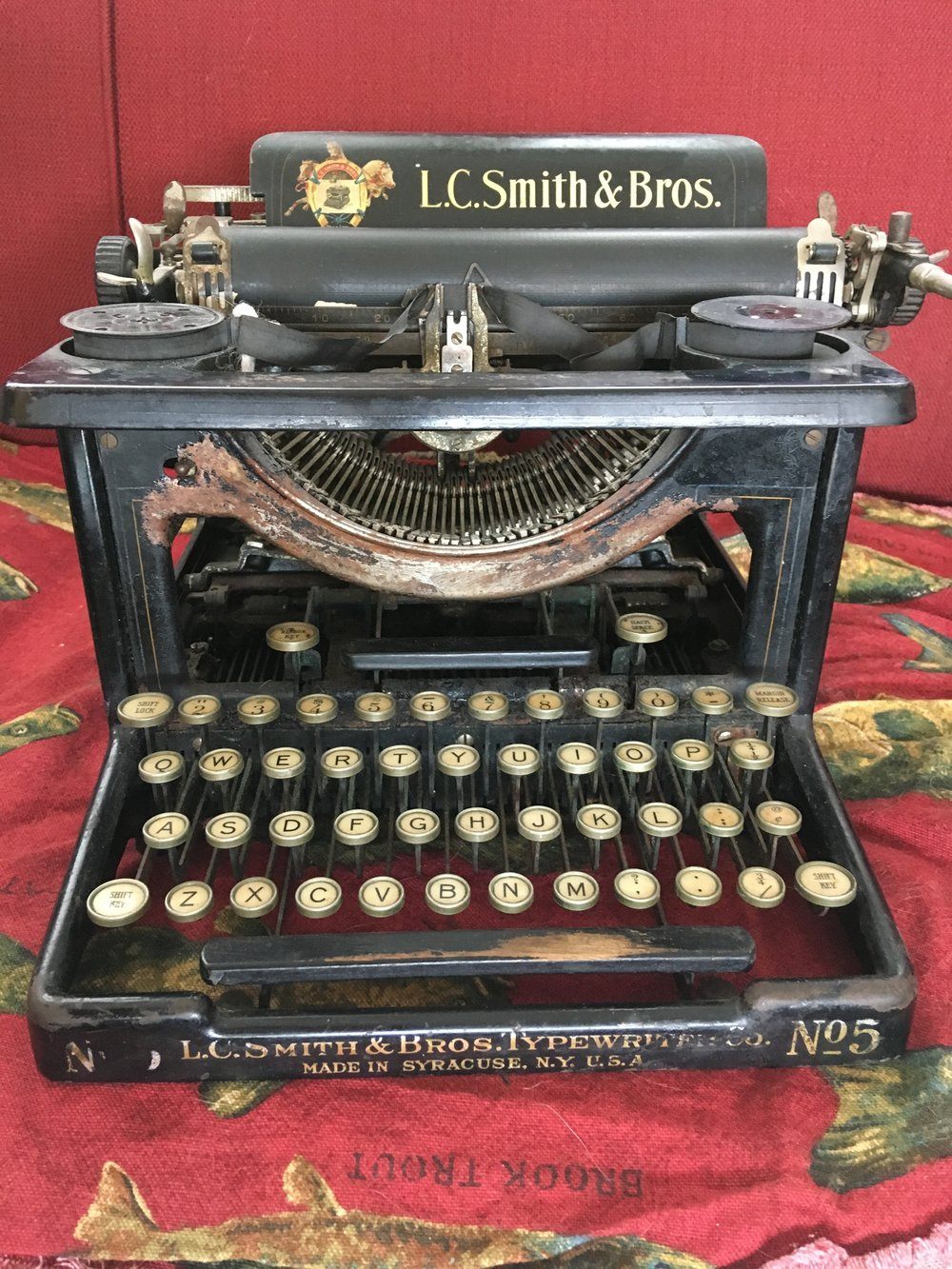 This gem was my Dad's and he used it in his youth. Notice it was before Mr. Smith met Mr. Corona. I also used this in my tender youth to pen great American short stories of my own.