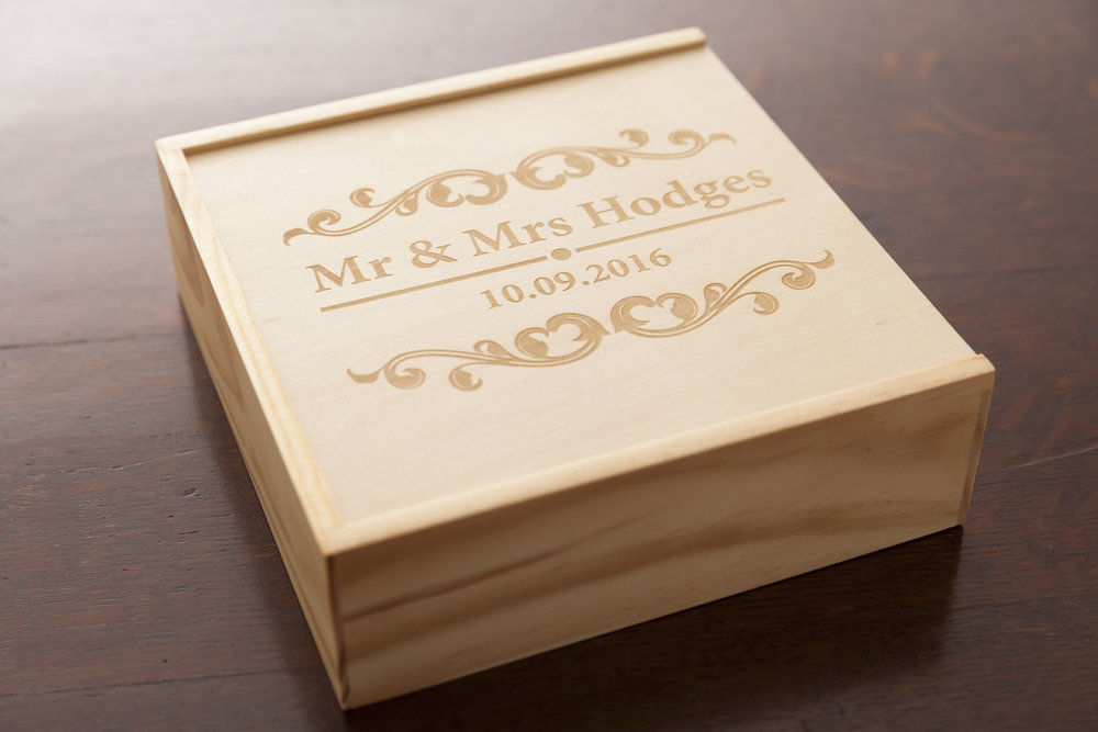 USB Presentation box - Personalised with your Name & Date of your Wedding.
