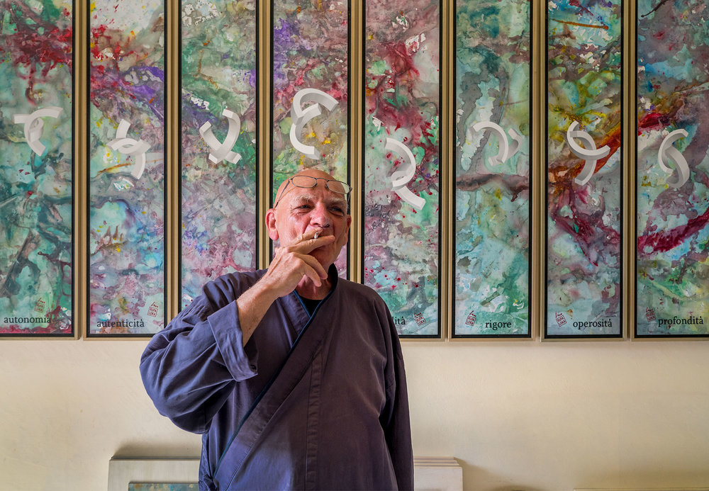 Lucio Maria Morra at his studio & home near Fossano in Italy - 2018