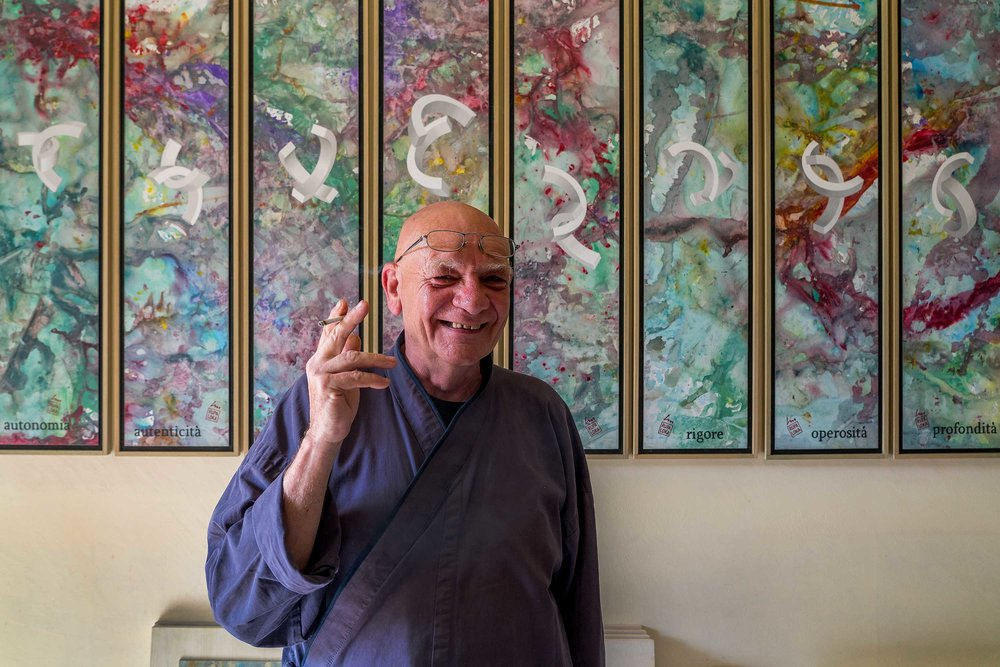 Lucio Maria Morra at his home near Fossano in Italy - 2018