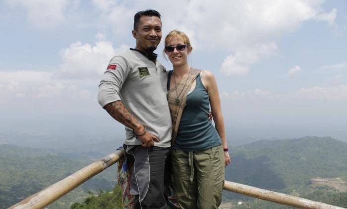 Nell'isola di Java con Alex, il mio host di Couchsurfing.