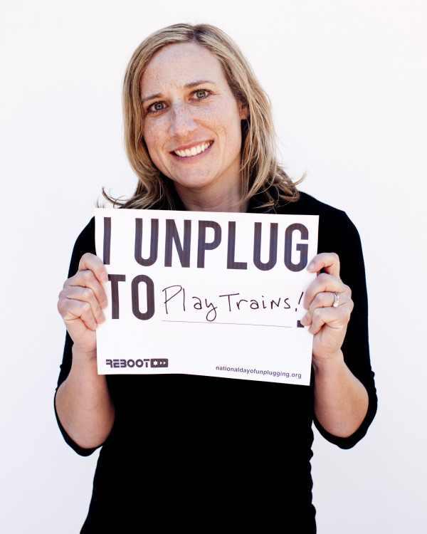 Tanya Schevitz di National Day of Unplugging