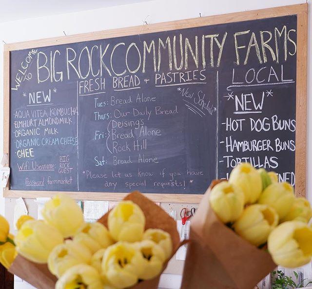 TGIF! Stop by this weekend for lots of exciting new seasonal freshness #stanfordville #bigrockcommunityfarmsmarket