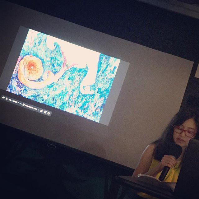 Sheri and her visual art! #inspire #collaborate #launch #art #prayer #creativity #creativecrewrwc #redwoodcity @sheriparksheripark